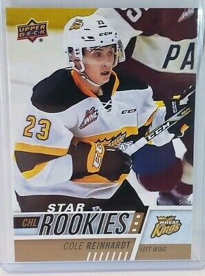 UD CHL 2017-18 Cole Reinhardt Star Rookies NM-M Condition