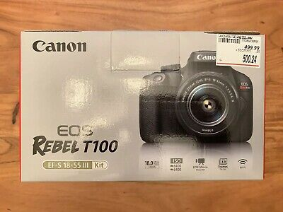 Canon EOS Rebel T100 18.0MP EF-S 18-55 III Kit