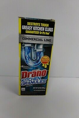Drano Kitchen Granules Commercial line 8.8 oz clears obstructions + grease clogs