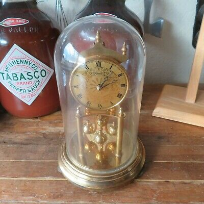 Vintage Kundo 400 Day Anniversary Clock Brass Made in West Germany Mechanical