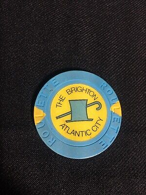 Extremely Rare Brighton Casino Roulette Table Chip Blue Top Hat