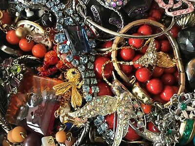 Huge Vintage To Now Junk Drawer Jewelry Lot Estate Find 277