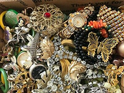 Huge Vintage To Now Junk Drawer Jewelry Lot Estate Find 523