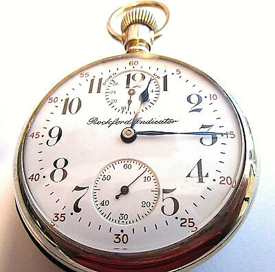 "Rare 2 Star- 21 Jewel ""Rockford Indicator"" Up/Down Wind Indicator Pocket Watch"