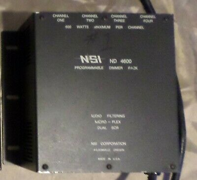 NSI ND 4600 programmable dimmer pack works mountable U.S.A.