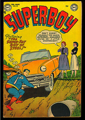 Superboy #24 Very Nice Unrestored Pre-Code Golden Age DC Comic 1953 FN-