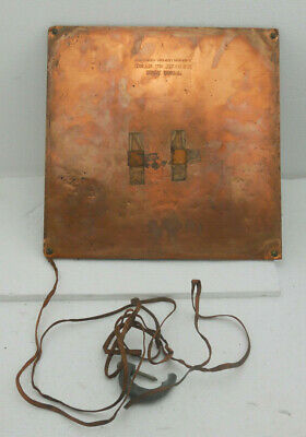 Quack Medical Device Chiropractor Gransaull Copper Plate Vintage 1920s