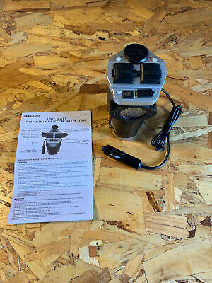 Rally 150-Watt Cup Holder Power Inverter with USB Port USED With Instructions