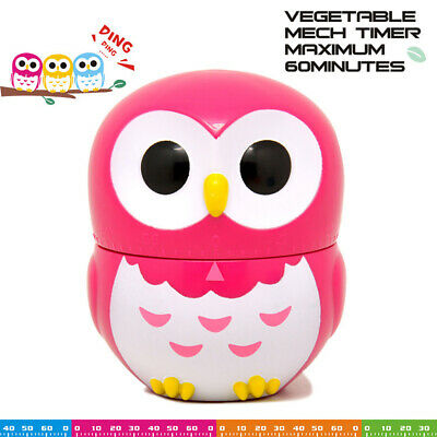 Fashion Owl Timer Kitchen Cooking Timer Count Down Up Clock Loud Alarm 60min