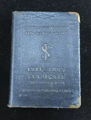Vintage Investors Syndicate Book Bank Coin and Bills