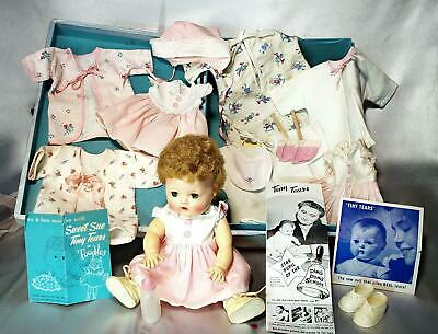Vintage Tiny Tears Case Doll Clothes & Paper Ad's All Original From Ohio Museum