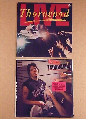 GEORGE THOROGOOD & THE DESTROYERS <> SEALED 1986 LIVE & 1988 BORN TO BE BAD LP s