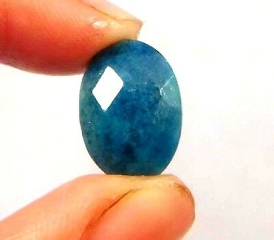 Dyed Faceted Blue Sapphire Gemstone 5 ct 13x10mm W459