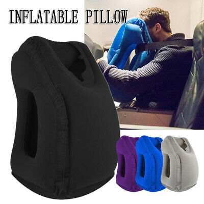 Inflatable Air Travel Pillow Cushion Neck flight Comfortable Support Nap New AU