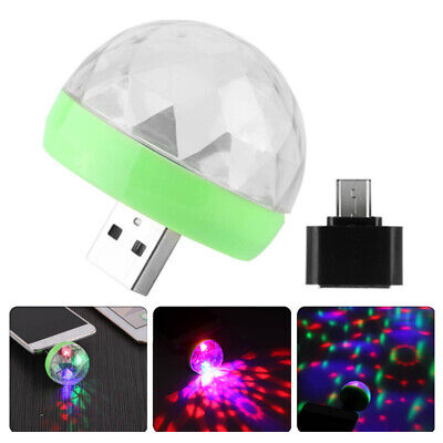 USB Mini LED Disco Stage Light Voice-activated Club RGB DJ Ball Lamp for Andriod