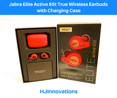 Jabra Elite Active 65t True Wireless Earbuds with Charging Case Red Copper