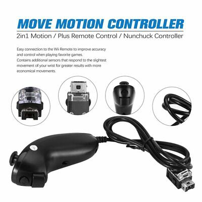 2in1 Motion Plus Remote Control + Nunchuck Controller for Nintend Wii Game RQ