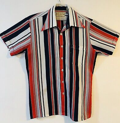 Vintage Retro 100% Silky Polyester Shirt - Classic Collection - Size Medium