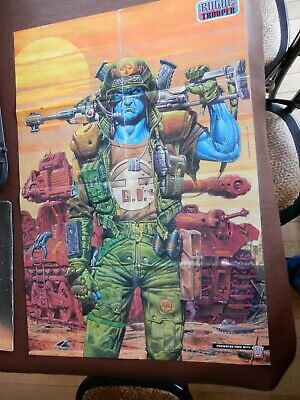 Rogue Trooper 2000Ad Poster  Folded Staple Holes Poor Condition
