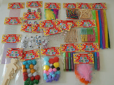Childrens crafts! Make and do! Job lot! 22 PACKS!! Rainy Day Activities!