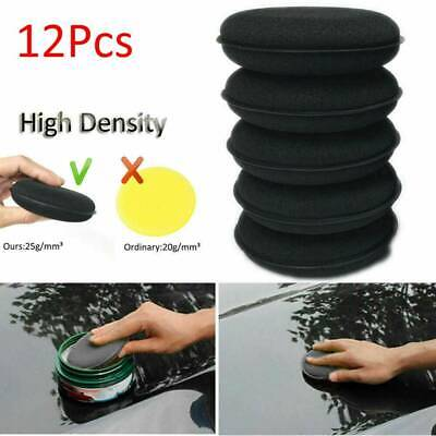 12Pcs Microfiber Foam Sponge Polish Wax Applicator Pads Car Home Cleaning Tool
