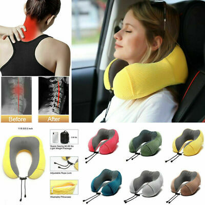 Portable Soft Comfortable Travel Pillow Proven Neck Head Support Sitting y9