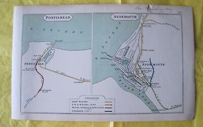 1911 RAILWAY CLEARING HOUSE Junction Diagram No.157 PORTISHEAD. AVONMOUTH.