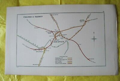 1903 RAILWAY CLEARING HOUSE Junction Diagrams No.16 CHESTER & SALTNEY.