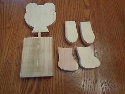 Wood Bear Head, Hands and Feet, Block Body Painting and Sewing Instructions Doll