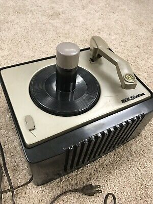 VINTAGE RCA VICTOR 45-6-EY-1 TURNTABLE RECORD PLAYER-Needs Repair
