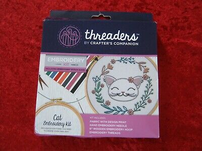New Threaders by Crafter's Companion Cat embroidery Kit