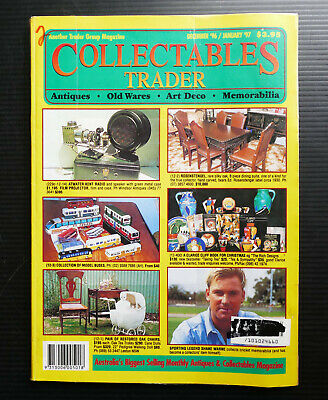 1996 COLLECTABLES TRADER Vintage Antique Furniture Radio Doll Toys Clock Pottery