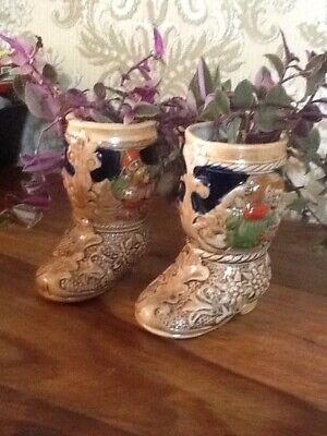 Cowboy Boots Planted With Tradescantia Houseplant Miniature Very Pinky