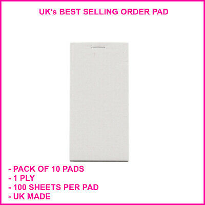 10 Single Copy Restaurant Cafe Takeaway Pub Food Waiter Numbered Order Pads