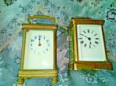 TWO EARLY 20th CENTURY CARRIAGE CLOCKS
