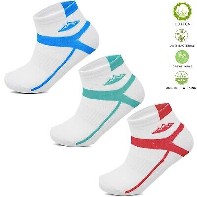 Socksology® 6 Pairs Ladies Trainer Socks Sports Gym Cotton Ankle Liner UK4-8