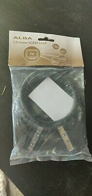 SCART Lead Cable TV Dvd FULLY WIRED 21 Pin Long 1m