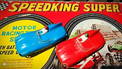 Speed King super motor racing track set N°2 with battery controls RAR