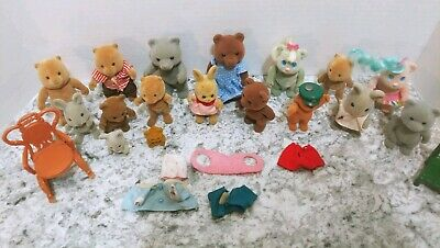 Vintage Calico Critters Sylvanian Families Epoch Mixed Lot of 17 Animal Figures