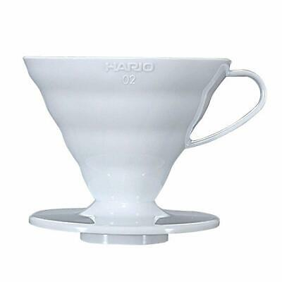 Hario : V60 Plastic Coffee Dripper Size 02 - White - for 1-4 cups (VD-02W)