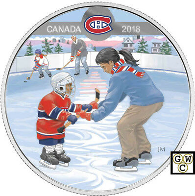2018 Montreal Canadiens(R)-Passion to Play'Prf $10 Silver Coin 1oz.9999(18249)NT