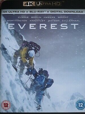 Everest 4K Ultra HD, Blu-ray, digital download, pre owned, very good