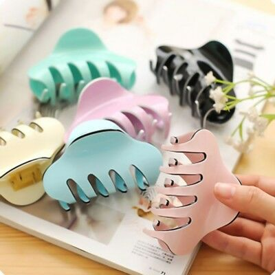 Women Ladies Large Hair Claw Clamps Hair Clip Butterfly Claws Clamps  New cu