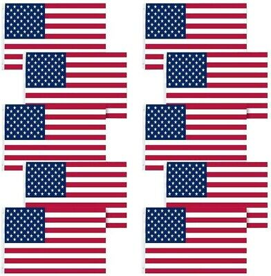 Pack Lot 10 US Flag 3' X 5' Ft. USA American Flag Stars Grommets United States