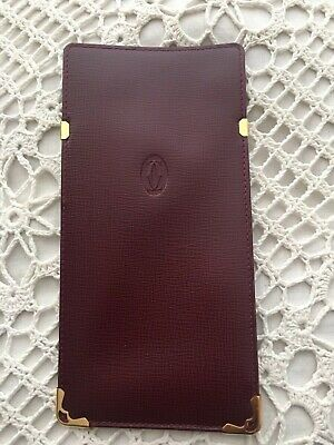 Cartier Glasses Case, Burgundy Leather With Gold Details. Brand New