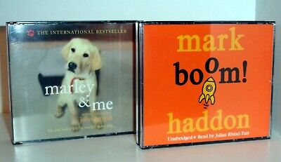 MARK HADDON Boom & JOHN GROGAN Marley & Me - 2 CD Audio Books