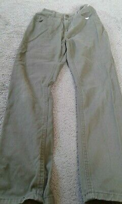 kids khaki jeans size 10/11 years elastic waist slim denim &co