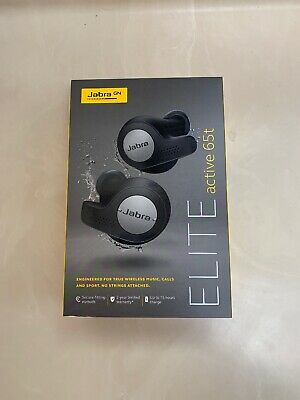 New Jabra Elite 65t active true wireless headphones Titanium Black