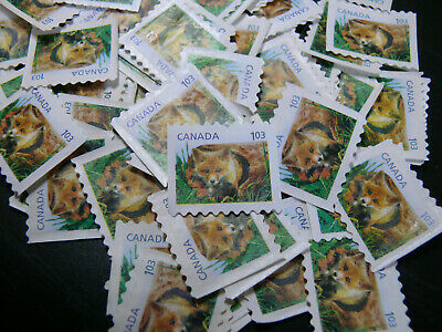 Uncancelled stamps no gum (lot of 50 x $1.03) Total face value of $51.50