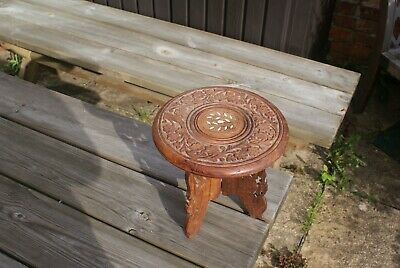 Miniature Campaign Table Folding Wooden Colonial Table Display